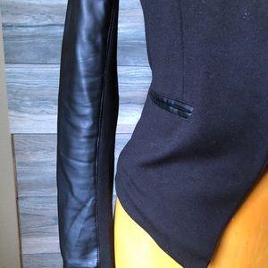 Express Jackets & Coats - Express black knit faux leather blazer jacket S